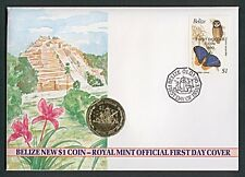 Numisbrief Belize New $1 Coin One Dollar 1990 Stempel 1990 NB-A7/41