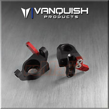 Vanquish Aluminum Steering Knuckles Black Axial Wraith 1:10 RC Car #VPS03200