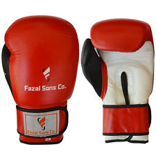 Boxing Gloves Sparring Kickboxing Fight Grappling Glove Muay thai Red/White,14oz