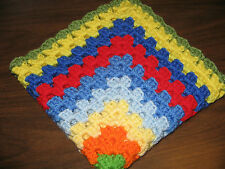 HANDMADE CROCHETED DOLL BLANKET - AMERICAN GIRL & BITTY BABY - 9 PRETTY COLORS
