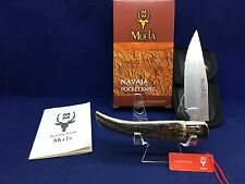Muela Folding Pocket Knife With Stag Handles Mint In Factory Box - P8 VA