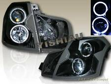 2003-07 CADILLAC CTS PROJECTOR HEADLIGHTS TWIN CCFL HALO BLACK