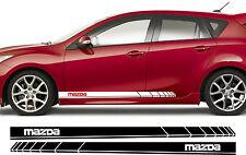 MAZDA Premium Side Stripes Decals Stickers 2 3 5 6 7 8 RX RX7 RX8 MX MX5 323 01