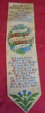 Antique Victorian Woven Silk Bookmark Stevengraph Auld Lang Syne