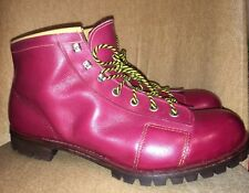 Vintage Red Leather work boots Vibram Montagna sole UK 11 VGC MOD