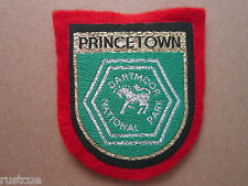 Princetown Dartmoor National Park Woven Cloth Patch Badge