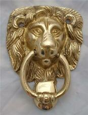 Laiton massif lion head door knocker 92mm haut x 68mm large