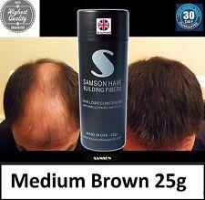 HAIR THICKENING FIBRE JAR Hair Loss - MEDIUM BROWN - Concealer Fiber SAMSON