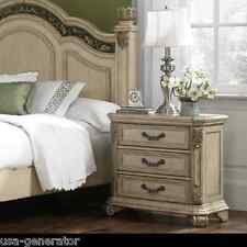 Nightstand Queen Anne Antique Style Bed Side Table Bedroom Furniture Ivory NEW