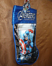 "Marvel Avengers Captain America 18"" 3d holographic image Christmas stocking NWT"