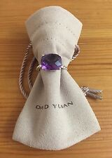David Yurman Cable Classic Ring With Amethyst 925 Sterling Silver