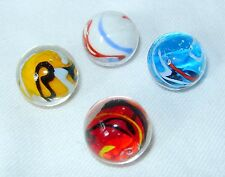 NEW SET OF 4 HANDMADE CELEBRATION COLOURFUL GLASS MARBLES 16mm