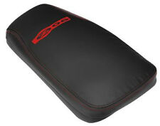 2001-2004 Corvette Console Cushion w/ Z06 Logo - Black/Torch Red Stitching