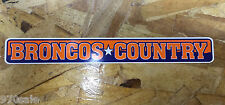 Broncos Country Mile High Denver Broncos Old School bumper sticker decal 9""