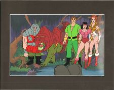 HE-MAN Masters of the universe Original Production Animation Art Cell & Back 2*