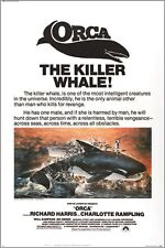 ORCA the KILLER WHALE classic movie poster RICHARD HARRIS ocean 24X36 HORROR