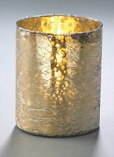 "Gold Glass Candle Holder by Park Designs, Mercury Glass, 5"" H, Votive or Pillar"
