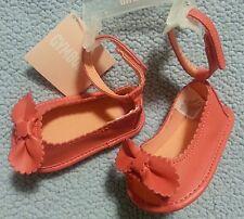 Gymboree SPRING PEACH Bow ankle strap Sandal Crib Shoes sz 02  NWT GIRLS 2