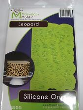 Marvelous Molds silicone onlay -Leopard- fondant gum paste cake decorating