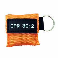100 pcs/Set 30:2 CPR Mask One-Way-Valve First Aid CPR Face Shields Orange