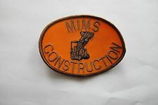 COLLECTIBLE MIMS CONSTRUCTION EMBROIDERY APPLIQUE PATCH