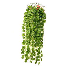 Artificial Fake Hanging Vine Plant Leaves Garland Garden Decor ED