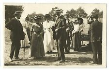 Garden Party RP PPC Unposted, Early 20th C, Shows Women & Men in Edwardian Dress