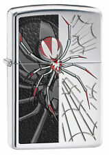 Zippo Windproof High Polished Chrome Lighter With Spider, # 28795, New In Box
