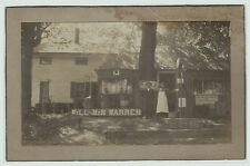 NICE Orig Photo - Will & Min Warren - Gas Station - Socony ca 1920