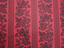 Ralph Lauren Curtain Fabric ~ 'Gwinnet Toile' 2.8 METRES (280cm) Document Red