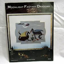 Cross Stitch Chart Pattern Moonlight Fantasy Dragons by Earle Phillips 1984