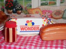 Barbie Fun Fixin Play Food Loaf of Wonder Bread Peanutbutter & Jelly Jar Dolls
