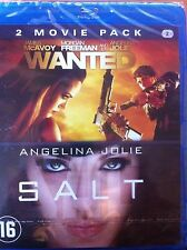 COFFRET BLU RAY WANTED + SALT ANGELINA JOLIE  NEUF SOUS CELLOPHANE