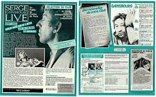 Serge GAINSBOURG / France press article 2 pages - Sorry angel La Javanaise 1986
