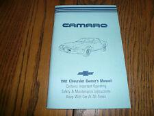 1982 Chevrolet Camaro Owner's Manual  - Glove Box