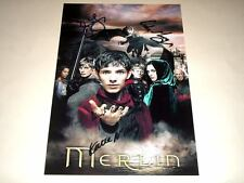 "MERLIN CAST X4 PP SIGNED 12""X8"" POSTER COLIN MORGAN"
