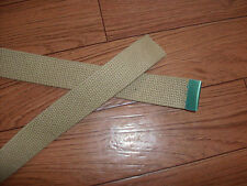 U.S MILITARY KHAKI CHROME TIP WEB  BELT FOR USE WITH CHROME BUCKLE ONLY