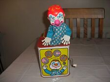 Vintage Musical Mattel Jack In The Box Toy Clown 1968 'Pop goes the weasel song