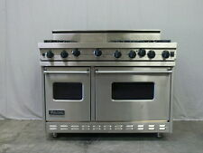 """VIKING 48"""" Stainless Steel Gas Range 6 Open Burners & Griddle VGIC 4856 GSS"""
