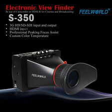 "Feelworld 3.5"" EVF View Finder LCD Monitor Display SDI HDMI F BMCC BMPCC"