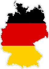 Sticker car moto map flag vinyl outside wall decal macbbook germany german