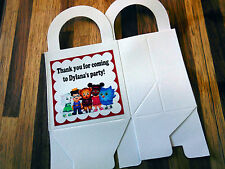 12 DANIEL TIGER loot boxes/bags birthday party favor treat, award, CUSTOMIZE IT!