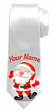 CHRISTMAS SANTA PERSONALISED NECK TIE * GREAT NAMED XMAS GIFT FOR ANY MAN*