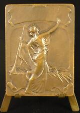 Médaille c1930 course à pied running sport allégorie : la victoire victory Medal
