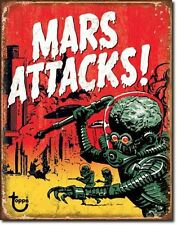 Mars Attacks USA Metall Alien Deko Kult Film Plakat