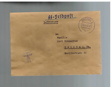 1941 Germany Dachau Concentration Camp KZ Guard Cover Waffen SS Feldpost
