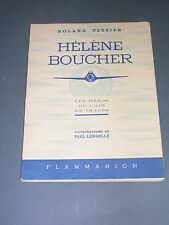 Aviation Hélène Boucher biographie illustré d'aquarelles couleurs 1943