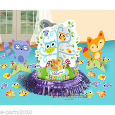 BABY SHOWER Woodland Welcome TABLE DECORATING KIT (23pc) ~ Party Supplies Blue