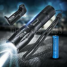 3500LM T6 LED Zoom Foco 18650 Flashlight Lamp Linterna Batería Cargador