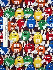 """Springs Creative Fabric - M&M Funfetti Packed Chocolate Candy on Brown 27"""""""